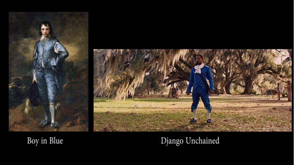 Thomas Gainsborough, El joven azul (c.1770)  - Quentin Tarantino, Django Encadenado (2012)