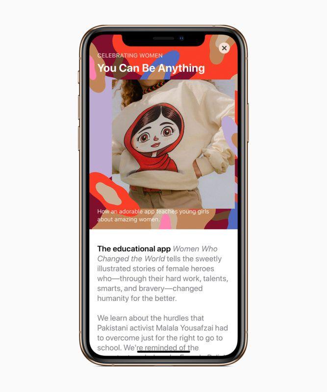 Todos los contenidos en la App Store sobre las mujeres más visionarias. Fuente: Descubreapple. (https://www.descubreapple.com/homenaje-apple-creadoras-programadoras-dia-internacional-mujer.html)