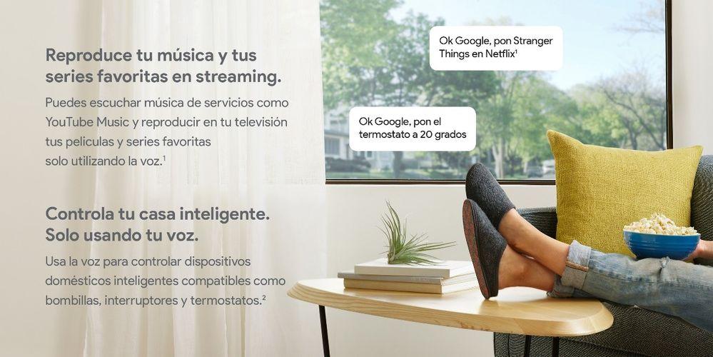Descubre todo lo que puedes hacer con Google Home. Fuente: Orange (https://www2.orange.es/google/?d=)
