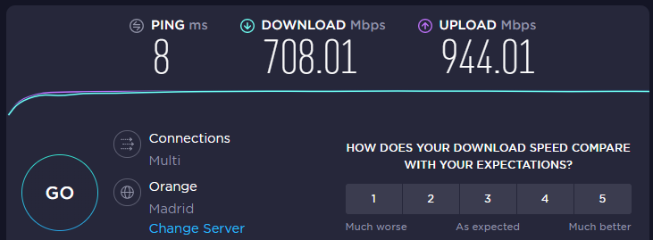 speedtest (conexión multiple)