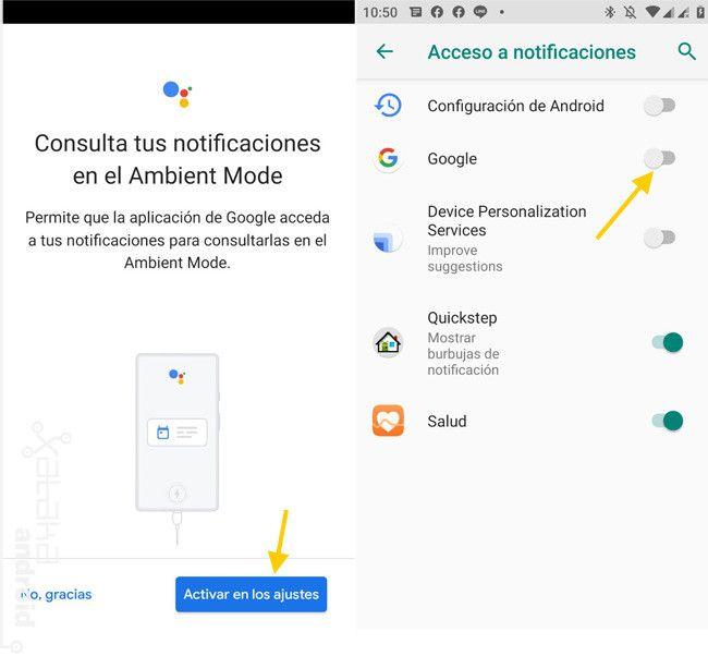 ¿Sabes todo lo que puedes hacer con el modo ambiente? Fuente: Xataka Android (https://www.xatakandroid.com/tutoriales/ambient-mode-google-assistant-empieza-a-llegar-a-algunos-moviles-android-asi-funciona)