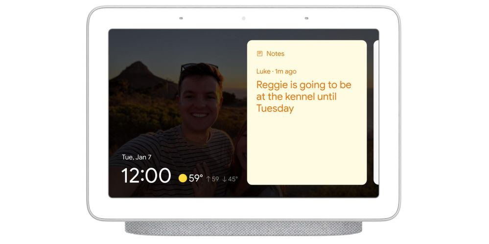 Los Smart Displays comienzan 2020 pisando fuerte. Fuente: 9to5 Google (https://9to5google.com/2020/01/07/smart-display-sticky-notes/)