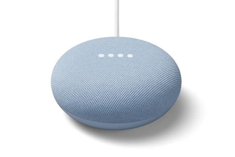 ¡Comprueba que el botón del micrófono esté encendido! Fuente: Digital Trends (https://es.digitaltrends.com/inteligente/google-nest-mini/)