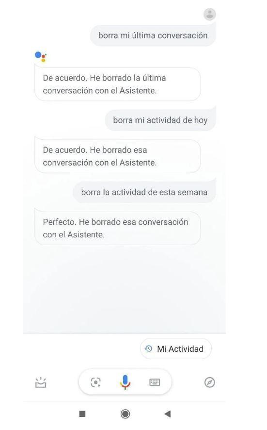 Ahora puedes borrar las conversaciones con tu asistente. Fuente: Domótica en casa (https://domoticaencasa.es/como-borrar-lo-que-google-assistant-ha-escuchado/)