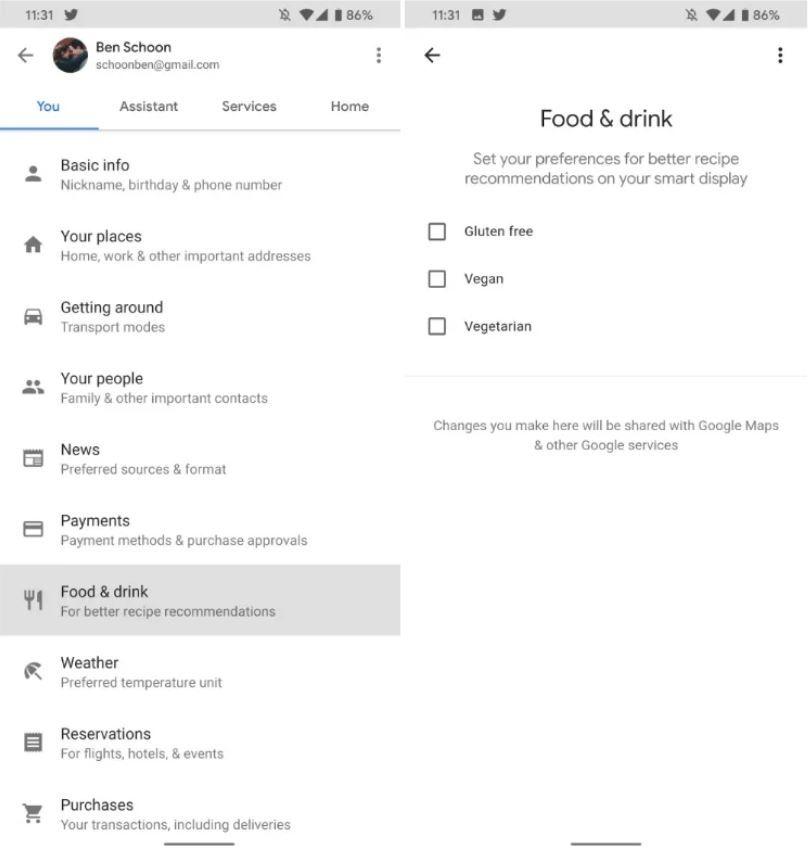 ¿Qué te parece esta nueva funcionalidad? Fuente: Domótica en Casa (https://domoticaencasa.es/google-assistant-recomendara-recetas-basandose-en-las-restricciones-alimenticias/)