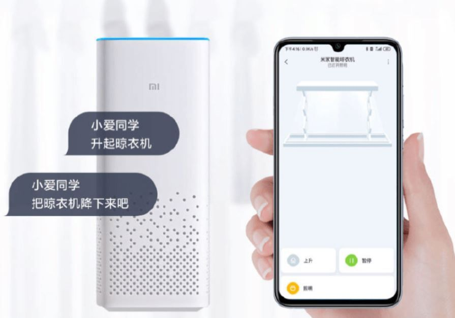 Si eres fan del orden, este es tu tendedero. Fuente: Gizmochina (https://www.gizmochina.com/2020/04/13/xiaomi-launches-the-mijia-smart-clothes-dryer-with-voice-app-control/)