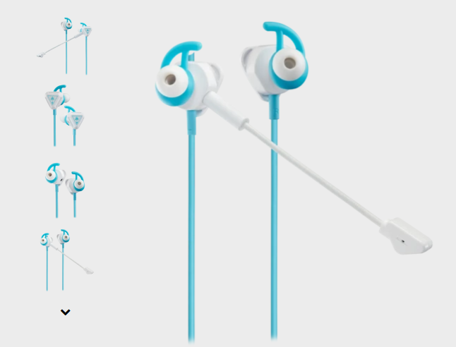O preferís ponerle un toque de color?? Fuente: Turtlebeach (https://es.turtlebeach.com/collections/auriculares-para-switch/products/battle-buds-white-teal)