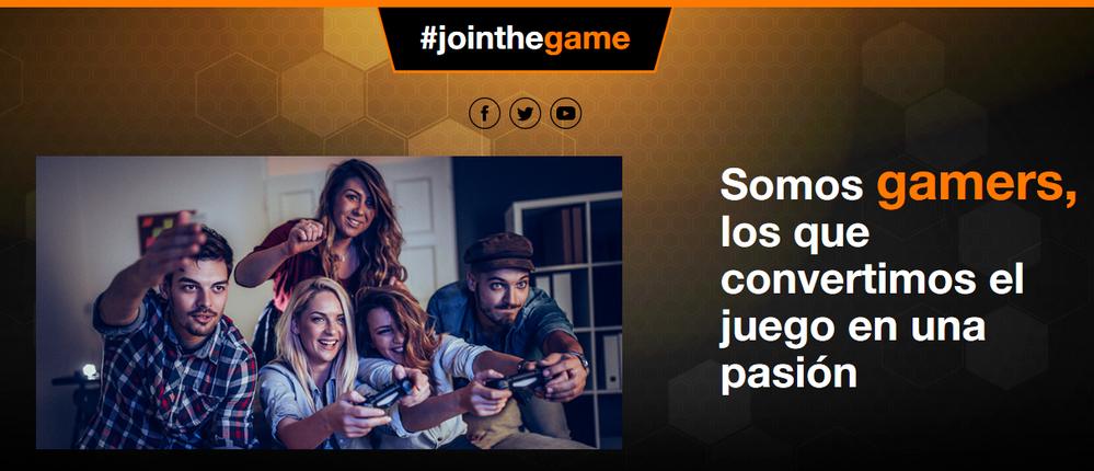 Han pensado en todo. Fuente: Jointhegame (https://jointhegame.orange.es/)