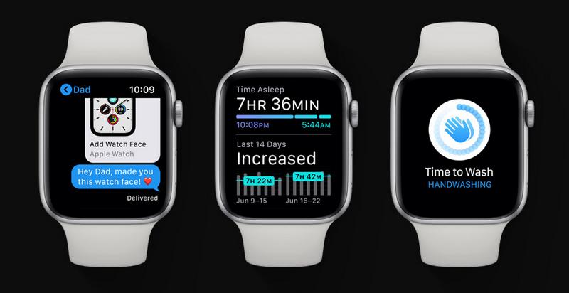 WatchOS 7 viene a revolucionar por completo tu Apple Watch. Fuente: Apple (https://www.apple.com/es/apple-events/june-2020/)
