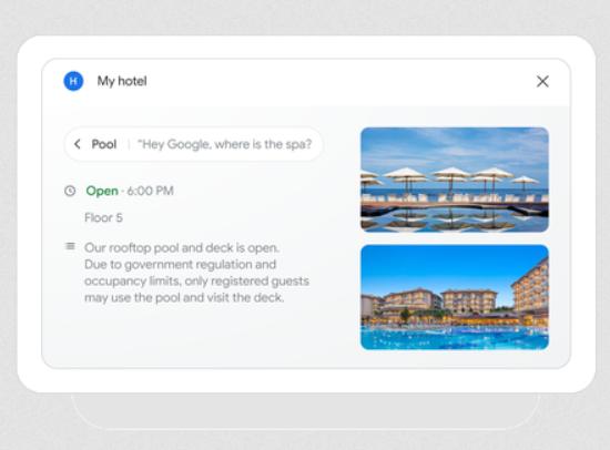 Una estancia sin contacto, ¿lo hubieras llegado a imaginar alguna vez? Fuente: El Blog de Google (https://blog.google/products/assistant/hands-free-hotel-stays-google/)