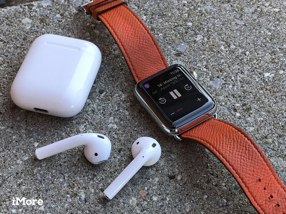 AirPods y Apple Watch, el combo perfecto. Fuente: iMore (https://www.imore.com/how-use-your-airpods)