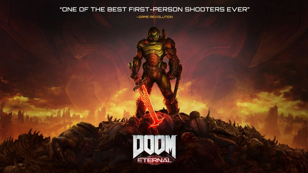 Coged fuerzas que toca arrasar el infierno!! Fuente: Blog Xbox (https://news.xbox.com/en-us/2020/09/24/doom-eternal-xbox-game-pass-october-1/)