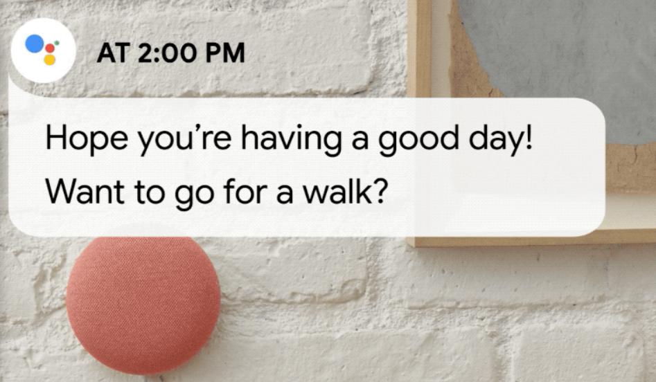 Pasas muchas horas frente al escritorio, ¿qué tal un paseo al terminar la jornada? Fuente: El blog de Google (https://blog.google/products/assistant/get-better-handle-work-day-home-google/)