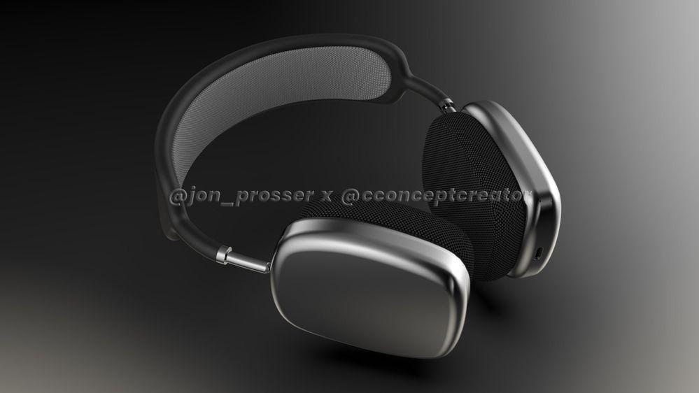 Imagen renderizada del supuesto nuevo diseño de los AirPods Studio. Fuente: AppleSfera (https://www.applesfera.com/rumores/airpods-studio-contaran-chip-u1-que-sera-fundamental-ecosistema-apple-l0vetodream)
