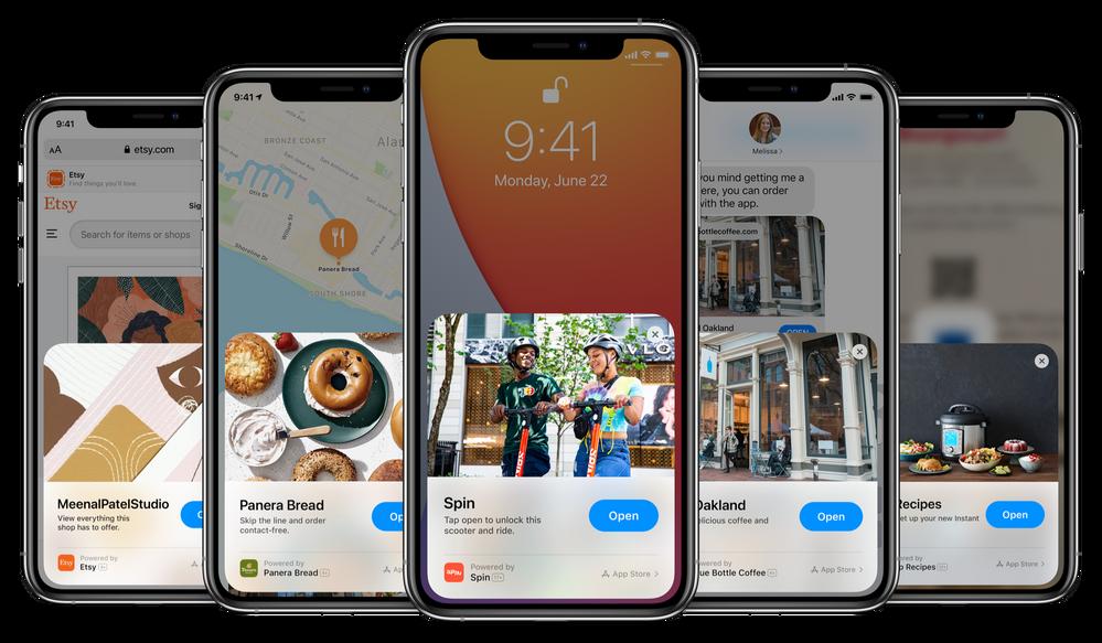 Pedazo de idea!! Fuente: Developer Apple (https://developer.apple.com/app-clips/)