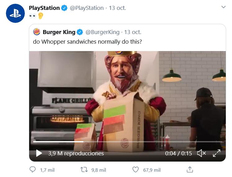 Con el tweet quedó clarísima la cooperación!! Fuente: Twitter (https://twitter.com/PlayStation/status/1315790757320564736?ref_src=twsrc%5Etfw)