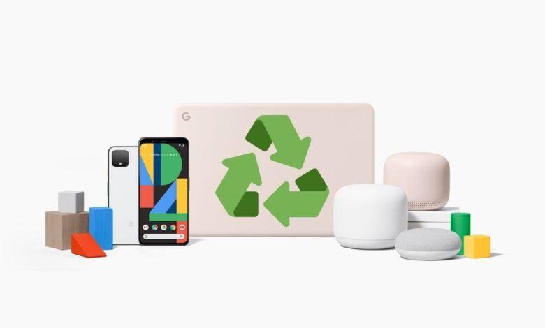 Además de plástico, la compañía también fabrica alguno de sus dispositivos con aluminio 100% reciclado. Fuente: Ambiente Plástico (https://www.ambienteplastico.com/google-fabricara-sus-pixel-y-nest-con-plastico-reciclado/)