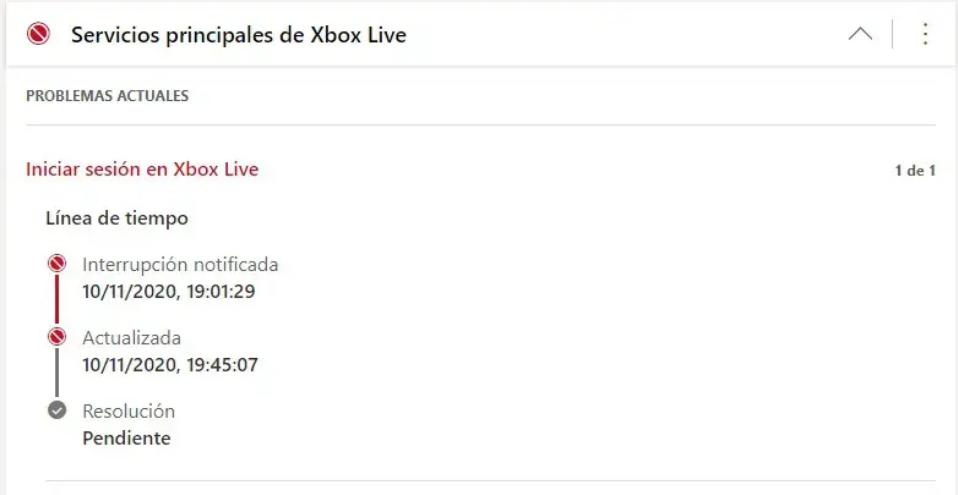 Primeros problemillas… Fuente: Areajugones (https://areajugones.sport.es/videojuegos/xbox-live-caido-usuarios-reportan-problemas-al-iniciar-sesion-en-series-xs/)
