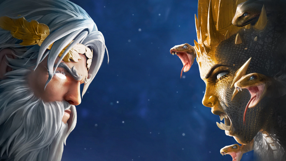 Las bestias mitológicas no nos lo van a poner fácil. Fuente: Ubisoft (https://www.ubisoft.com/es-es/game/immortals-fenyx-rising9)