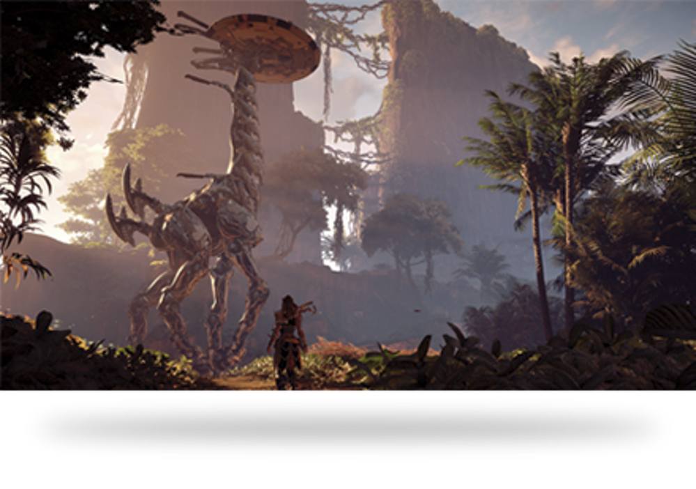 Empieza la cacería. Fuente: PlayStation (https://www.playstation.com/es-es/games/horizon-zero-dawn/)