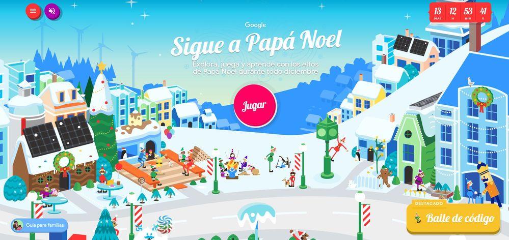 ¿Has visto la cantidad de juegos que se ocultan en la Aldea de Papá Noel? Fuente: Santa Tracker (https://santatracker.google.com/)