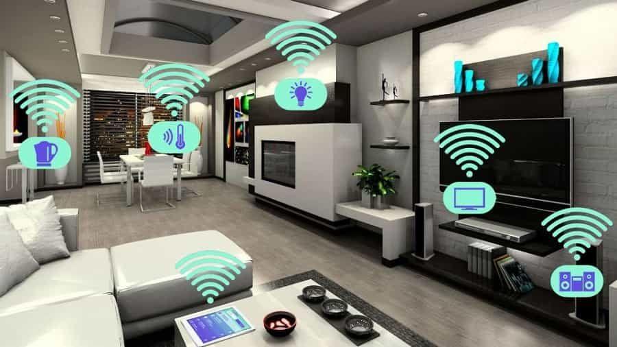 ¿Todavía no sabes en qué consiste el concepto de hogar inteligente? Fuente: e-renovables (https://www.e-renovables.es/como-convertir-una-casa-en-un-hogar-inteligente/)