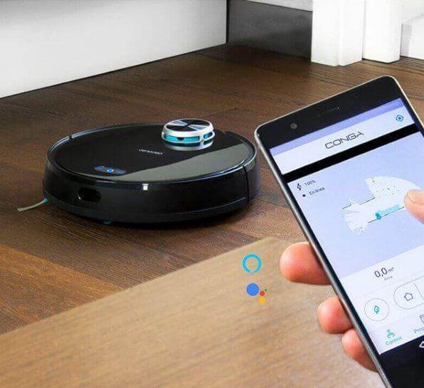 ¿Y qué sería de una Smart Home sin los robots aspiradores? Fuente: One robot aspirador (https://onerobotaspirador.com/que-conga-comprar/)