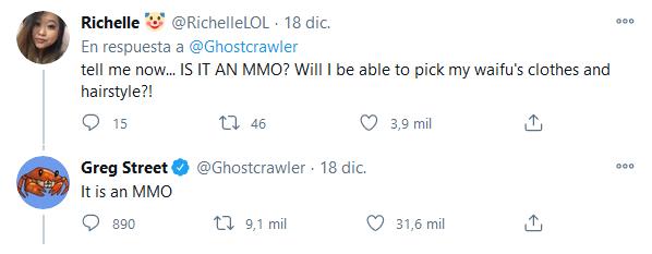 Un sueño hecho realidad. Fuente: Twitter (https://twitter.com/Ghostcrawler/status/1339722821761605632)
