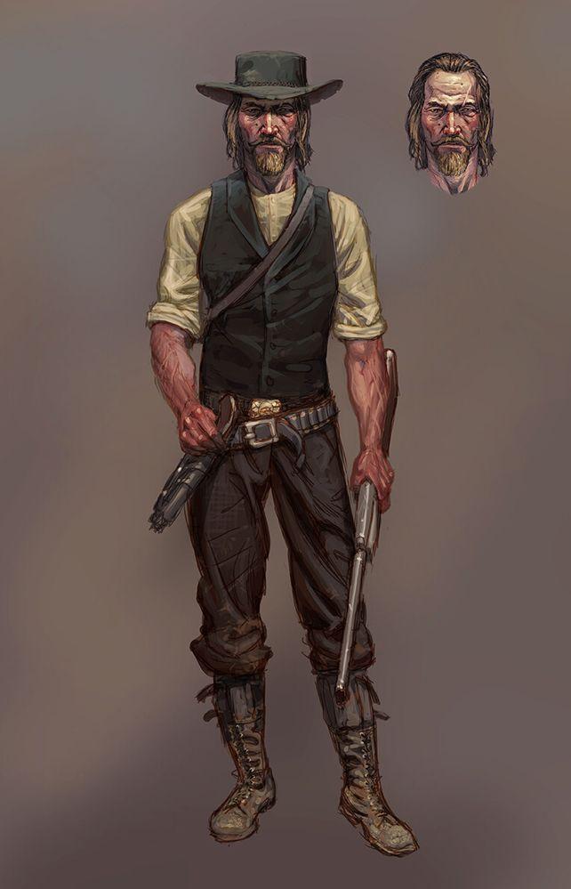 Arthur Morgan iba a tener un aspecto mucho menos amigable. Fuente: Alfabetajuega (https://www.alfabetajuega.com/noticia/una-filtracion-de-red-dead-redemption-2-revela-el-arte-original-de-arthur-morgan)