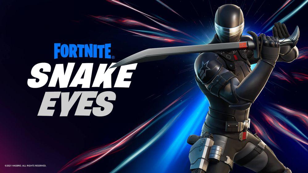 Snake Eyes se une a la cacería!!! Fuente: Epic Games (https://www.epicgames.com/fortnite/es-ES/news/the-gi-joe-commando-snake-eyes-joins-the-hunt)