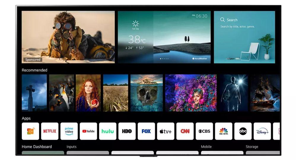 Antes de que te des cuenta, Stadia saldrá junto al resto de apps de tu televisor LG. Fuente: El Output (https://eloutput.com/noticias/imagen-sonido/lg-webos-6-modelos/)