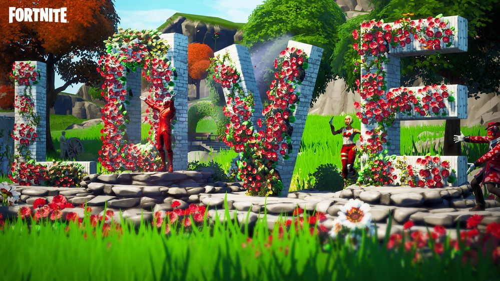 Ha quedado preciosa, verdad?? Fuente: Epic Games (https://www.epicgames.com/fortnite/es-ES/news/hearts-wild-lots-to-love-in-fortnite-for-valentines-season)