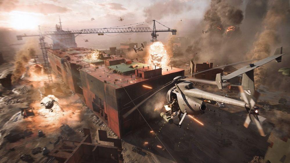 Nos esperan intensas batallas. Fuente: Xataka (https://www.xataka.com/videojuegos/multijugador-para-128-jugadores-tornados-como-quiere-battlefield-2042-convertirse-entrega-epica-serie)