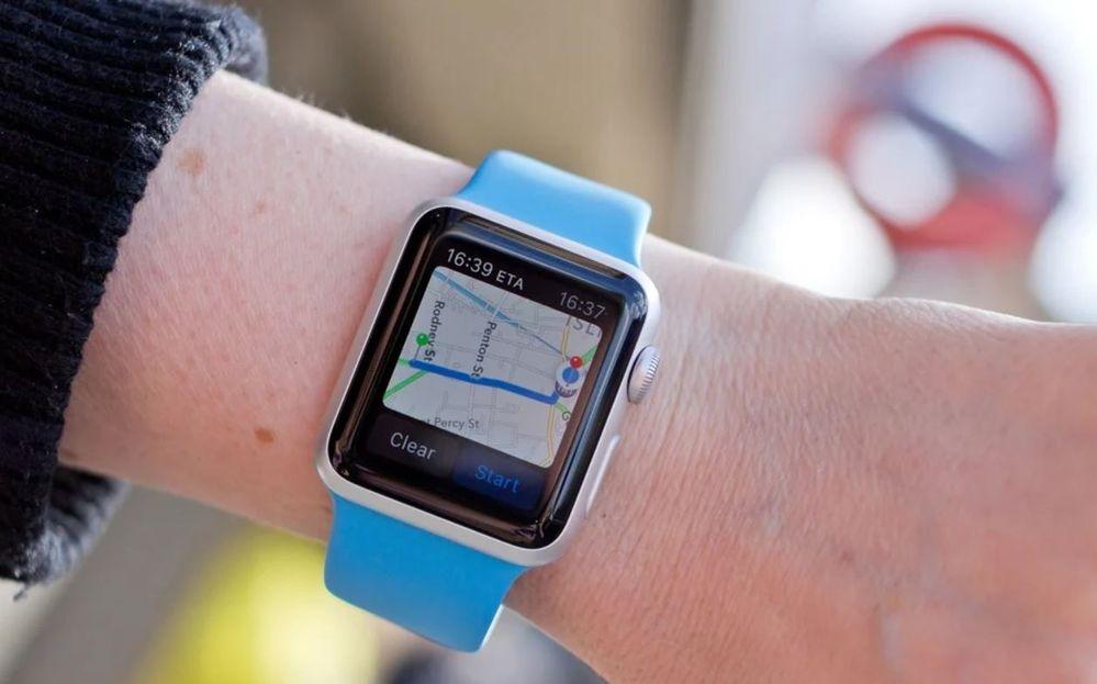 Tu GPS no solo sirve para ubicarte. Fuente: Macworld (https://www.macworld.co.uk/how-to/how-use-maps-on-apple-watch-3609161/)