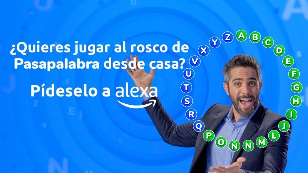 El juego de Pasapalabra llega a Alexa con la voz de su presentador. Fuente: Antena 3 (https://www.antena3.com/programas/pasapalabra/noticias/skill-pasapalabra-alexa-supera-200000-roscos-jugados-menos-mes_20210429608acdcbcfc90e0001859cf1.html)