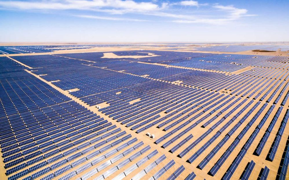 Parque solar más grande de Latino América en Caucharí, Argentina. Fuente: Revista energía (https://www.revistaenergia.com/14647/)