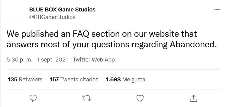 Muchas dudas tampoco nos han resuelto. Fuente: Twitter (https://twitter.com/BBGameStudios/status/1433091456160370697)