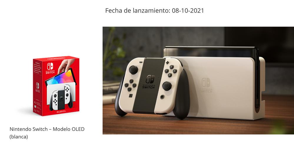 Quedan días para su llegada. Fuente: Nintendo (https://www.nintendo.es/Familia-Nintendo-Switch/Nintendo-Switch-Modelo-OLED/Nintendo-Switch-Modelo-OLED-2000984.html)