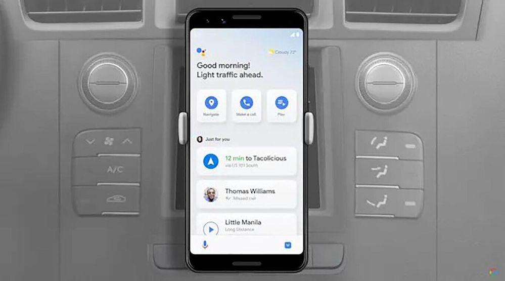 OK, Google, veamos qué nos depara este viaje. Fuente: Motorpasion (https://www.motorpasion.com/industria/android-auto-para-telefonos-moviles-desaparece-ahora-solo-se-podra-usar-modo-conduccion-google-assistent)